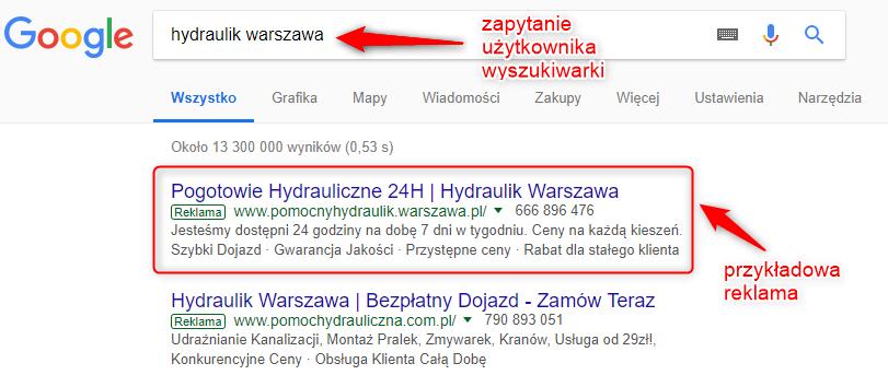 Sieć wyszukiwania Google Ads