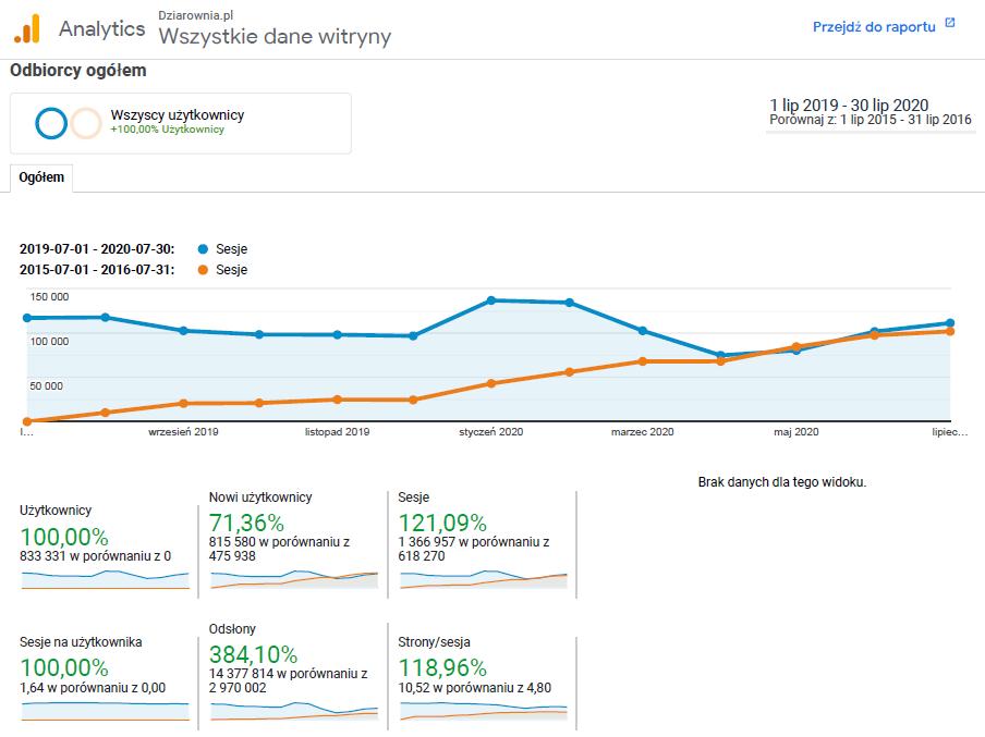 dziarownia.pl - google analytics